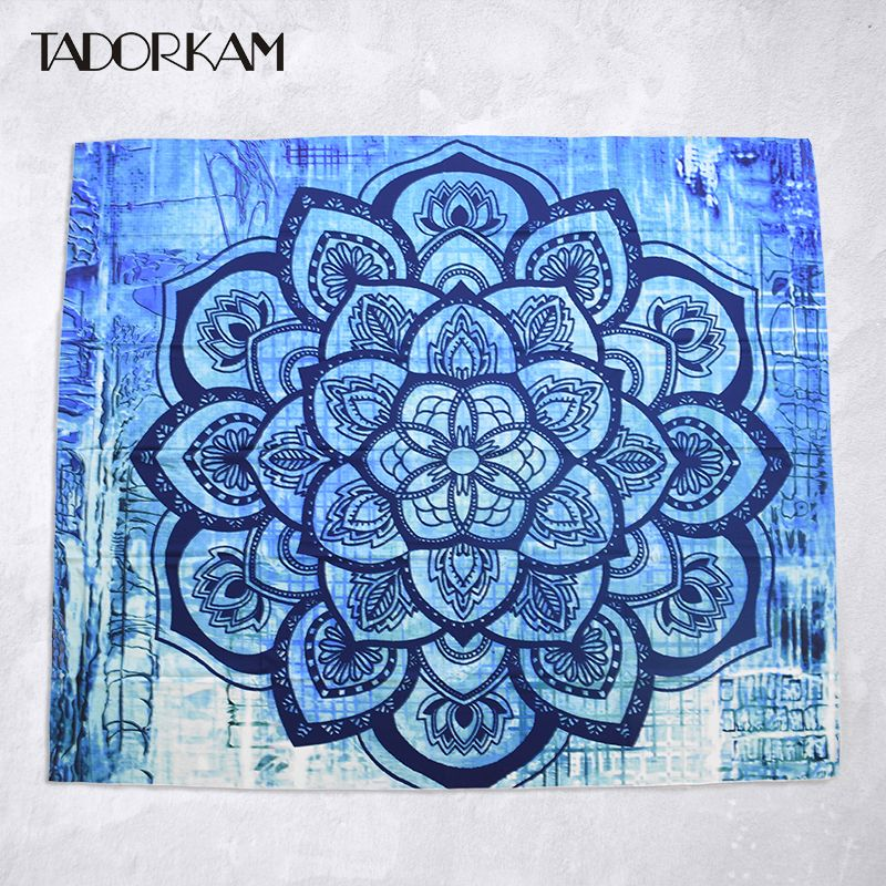 1pc Indian Mandala Tapestry Thailand Printed Bohemian Rectangular Tapestry Home Decor Wall Hanging Mandala Bedspread Beach Shawl