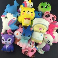 Ukuran Besar Kejutan Unicorn Partai Besar Squishies Lambat Rising Jumbo Anak Boneka Mainan Lambat Rising Ponsel Tali Beraroma Manis Kue Mainan