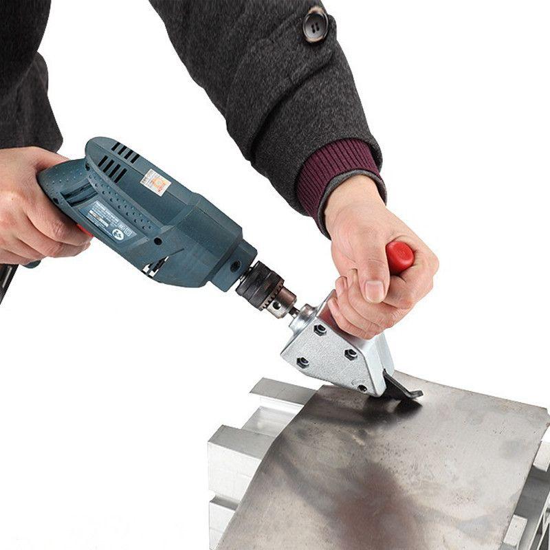 NEW Nibble Metal Cutting Sheet Nibbler Saw Cutter Tool Drill Attachment Free Cutting Tool Nibbler Sheet Metal Cut HT1279