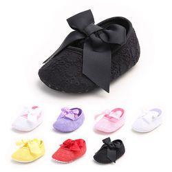 Recién lindo casual Zapatos bebé suave único arco Patucos floral slip-on primavera otoño Zapatos equipo 0 -18 m 5 Estilo