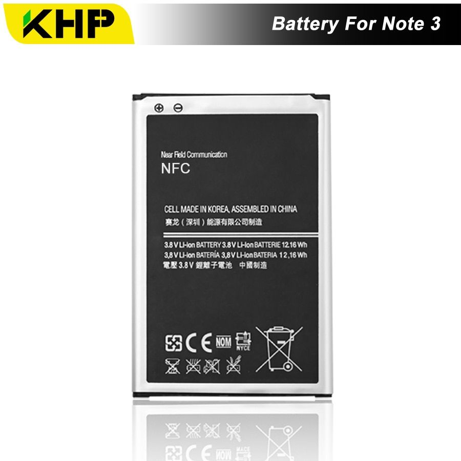 NEW 2017 100% Original KHP Phone Battery For Samsung Galaxy Note 3 N9000 N9005 N7200 Battery Replacement Mobile Batteries