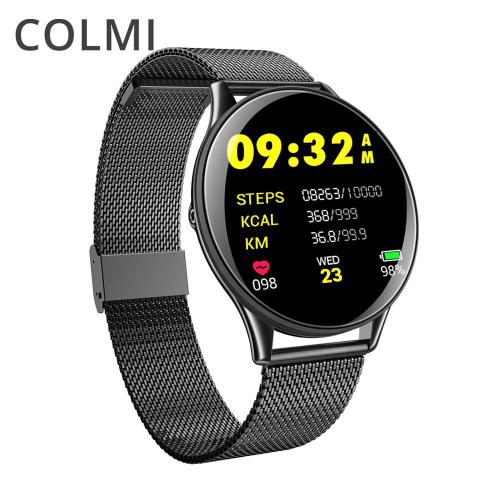 COLMI hommes ip68 étanche VK6 montre intelligente moniteur de fréquence cardiaque activité Fitness Tracker bord hommes femmes Smartwatch ou Android IOS