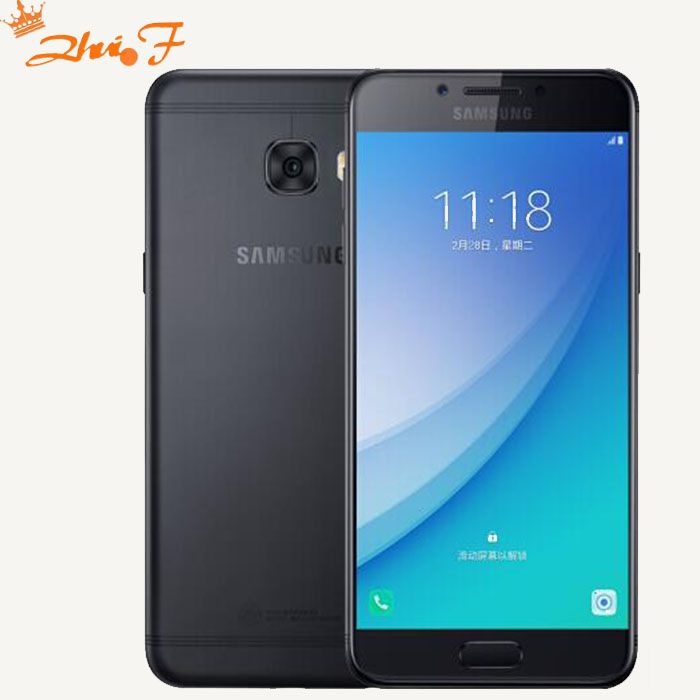 Téléphone portable d'origine Samsung Galaxy C5 Pro 2017 C5010 4 GB + 64 GB