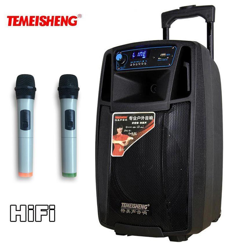 TEMEISHENG SL08 High Power Portable Loudspeaker Bluetooth Speaker Support Wirelss Microphone Outdoor audio speaker MP3 Player