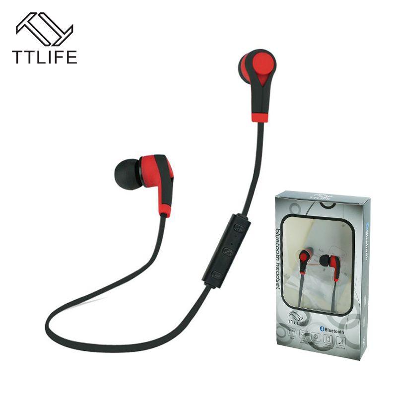 Kaufen 2 Erhalten 1 $! TTLIFE Bluetooth Headset Drahtlose Kopfhörer Bluetooth Ausgeführt Stereo-ohrhörer Earbuds mit Mic für Xiaomi Telefon