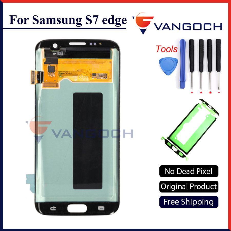 Original Super Amoled Lcd Screen für Samsung Galaxy S7 rand Display G935F G935FD Montage Ersatz mit geschenk und versand