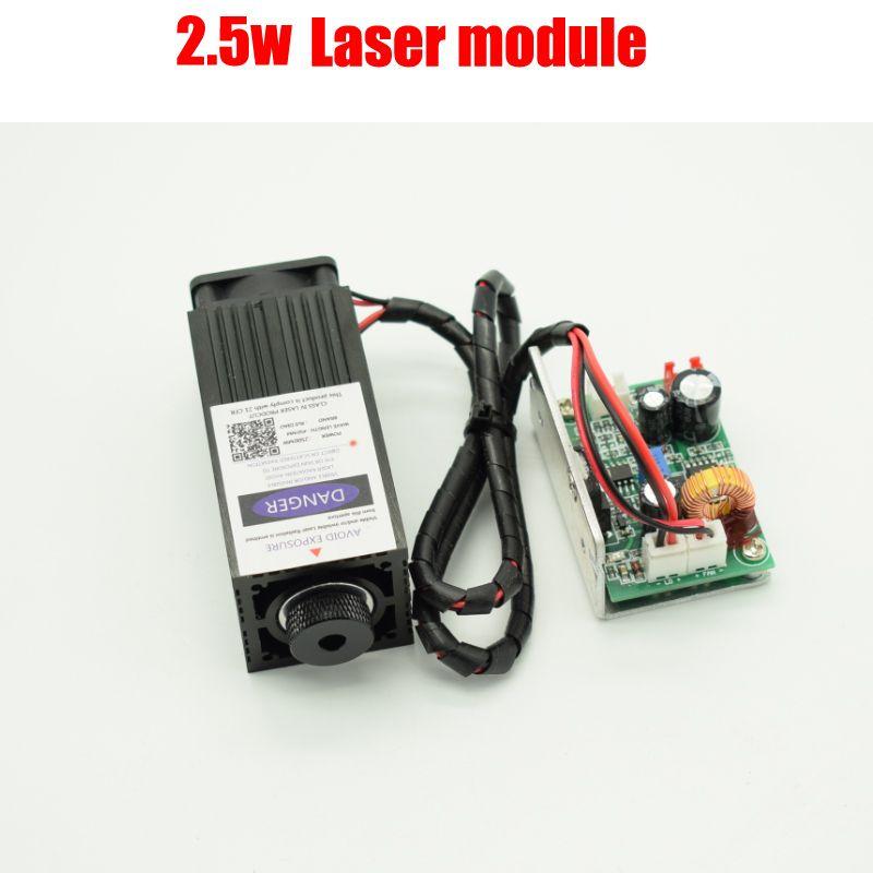 2,5 watt high power 450NM fokussierung blau laser-modul laser gravieren und schneiden TTL modul 2500 mw laserröhre + googles