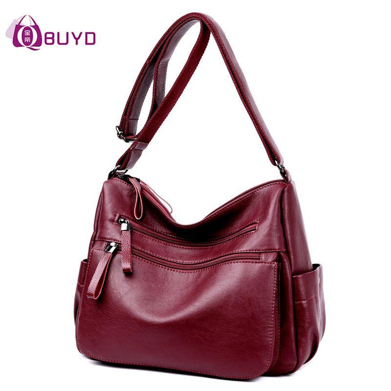 Для женщин кожа Сумки женский Повседневное Сумки на плечо Дамы Сумка Дизайн молнии Вместительные сумки Для женщин Курьерские сумки Bolsa feminina
