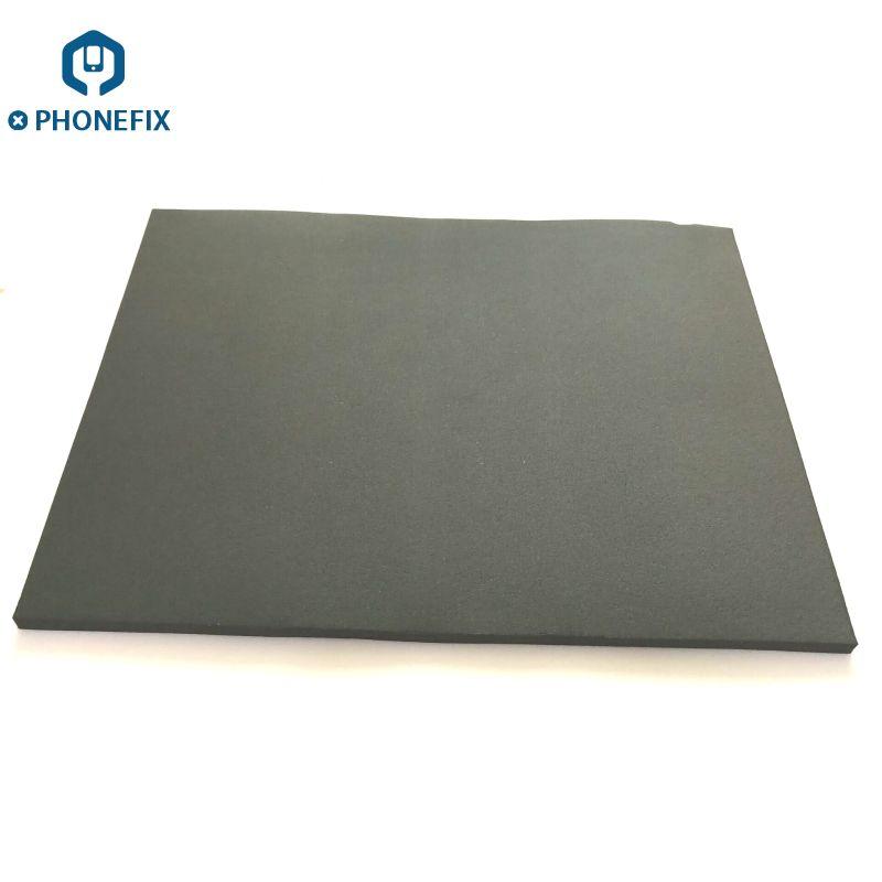PHONEFIX Super Weiche Schaum Schwarz Größte Gummi Matting LCD Druck Bildschirm Vakuum Reparatur Bildschirm Laminierung Maschine Plattform