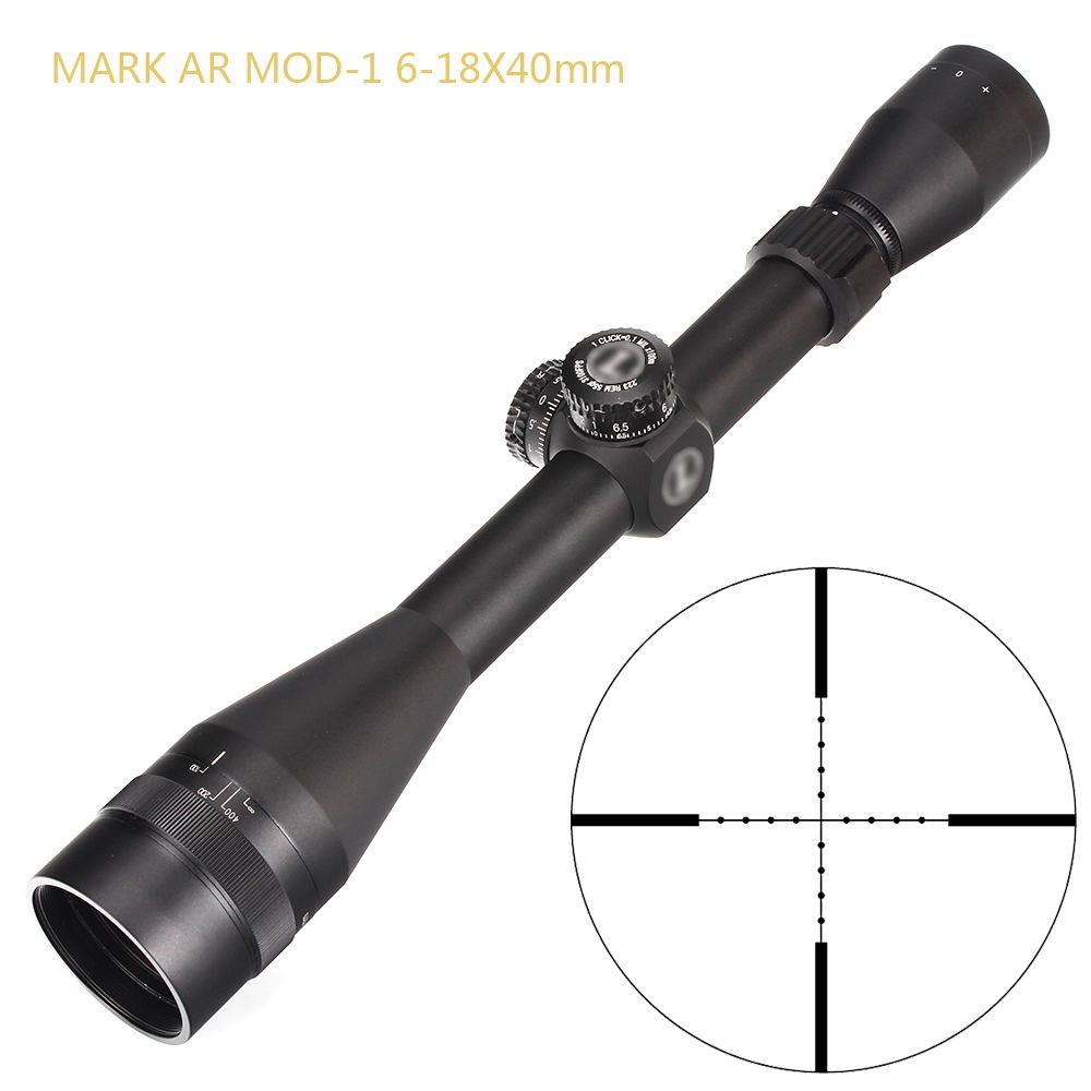 L MARK AR MOD-1 6-18X40 AO Mil-Dot Absehen Jagd Zielfernrohre 1 Zoll Rohr Türmchen Reset Taktische zielfernrohr
