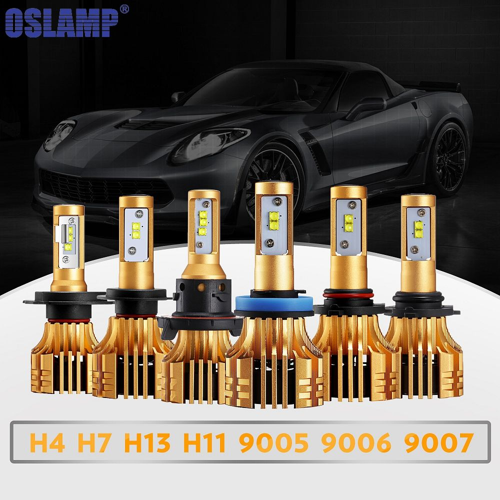 Oslamp S6 H1 H4 H7 H11 H13 9005 9006 Car LED Headlight Bulb LED Head Lamp 72w/pair SMD Automobile Fog Lamps Light 12V 24V