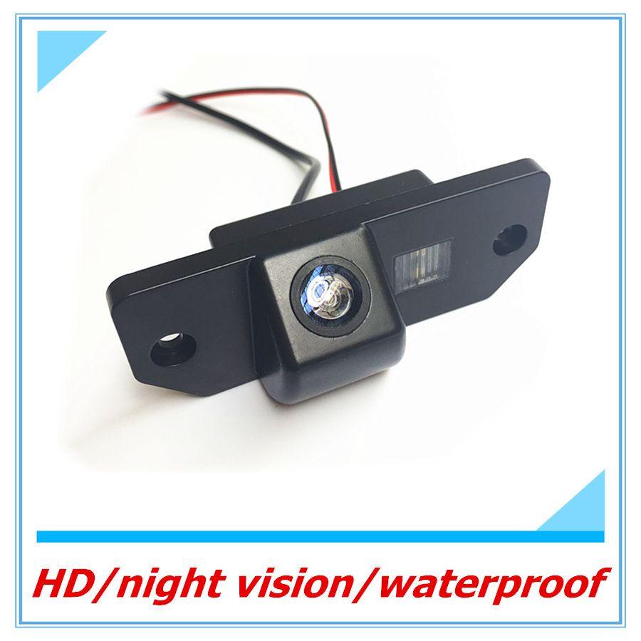 CCD заднего вида Камера для Ford Focus 2 седан (2005-2011), c-Max (2003-) Обратный Камера Водонепроницаемый ночного видения дисплеем парковка линия