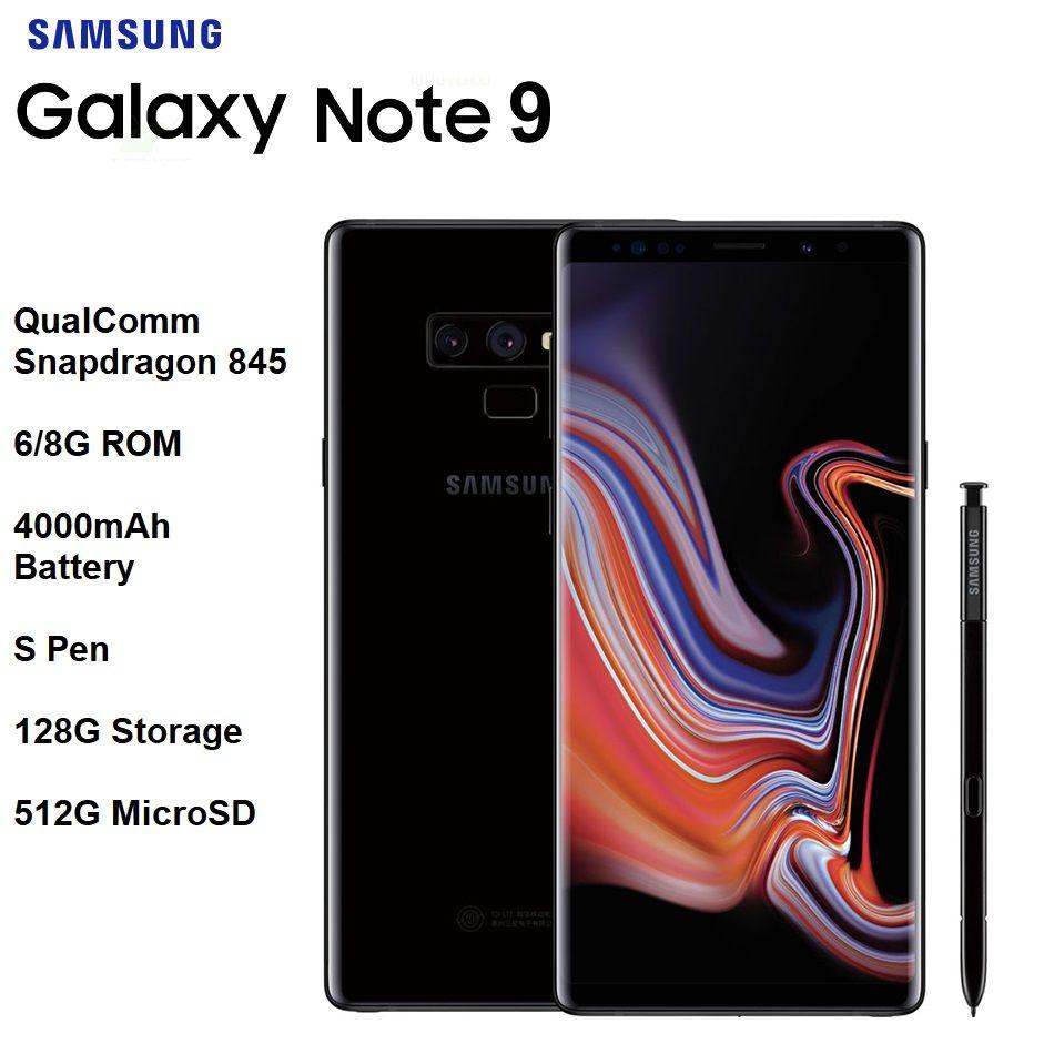 "Neue Samsung Galaxy Note 9 6,4 ""Quad HD + AMOLED Unendlichkeit Display Snapdragon 845 S Stift 6/8G RAM IP68 Drahtlose Lade 4000 mAh Batt"