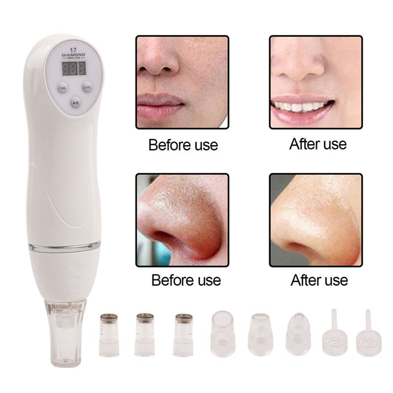 6 Tip Facial Care Beauty Device Skin Diamond Dermabrasion Removal Scar Acne Pore Peeling Machine Care Massager Microdermabrasion