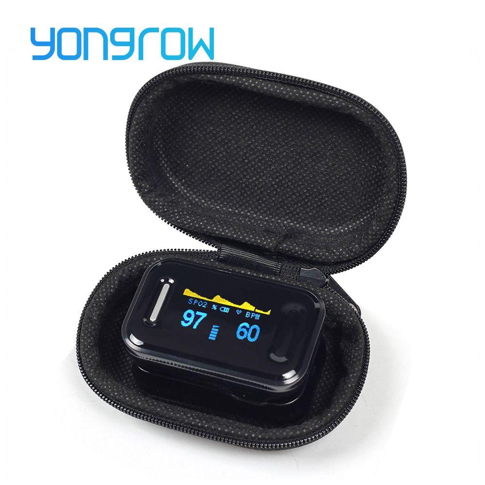 11.11 Yongrow Medical CE FDA Fingertip Pulse Oximeter Digital Pulse Oximeter Blood Oxygen Saturation Monitor <font><b>Health</b></font> Care Spo2 PR