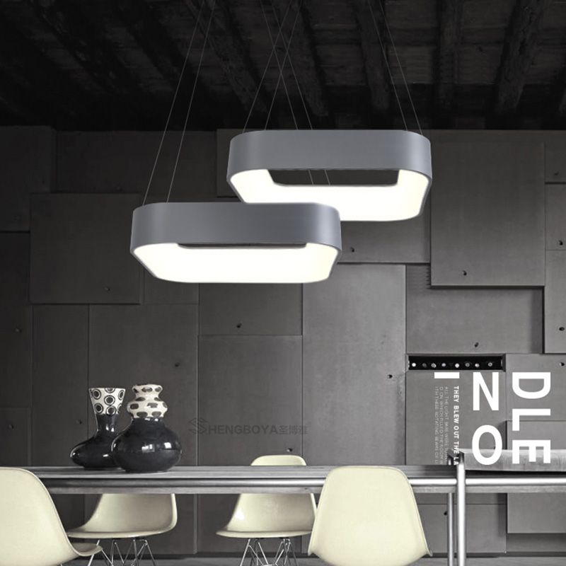 Hot moderne minimalismus led anhänger lichter lampe esszimmer bar restaurant hängen leuchte suspendu lampadario moderno leuchten