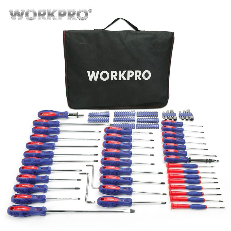 Jeu de tournevis WORKPRO 130 en 1 outils de réparation de tournevis multifonctions pour téléphones jeu de tournevis de précision