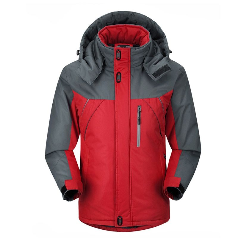 2018 New Men Thicken outwear super warm Coat Winter Climb Mountain Jacket Hooded male Parkas Windproof plus size jackets