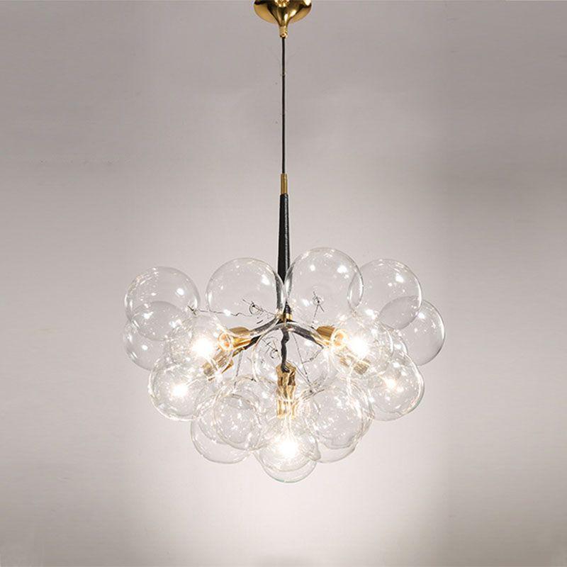 Creative bubble led pendant lights for room bar clear glass lampshade , loft pendant lamp modern lighting fixtures E27/110-240v