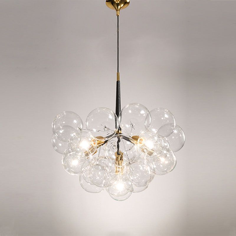 Creative bubble led pendant lights for room bar clear glass lampshade , loft pendant lamp modern lighting fixtures E27/110-240v