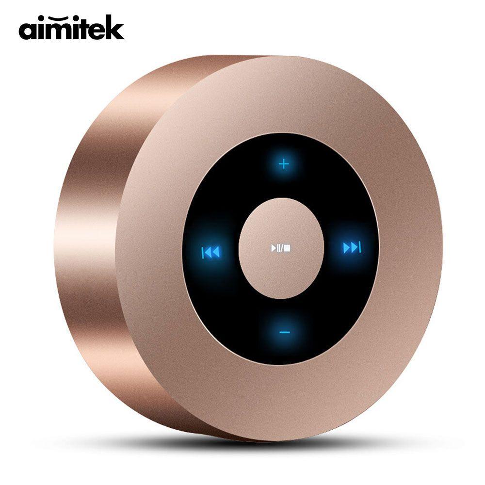 Aimitek A8 Mini Sans Fil Bluetooth Haut-Parleur Portable Écran Tactile Stéréo Subwoofer Lecteur MP3 avec Microphone TF Fente Pour Carte AUX-dans