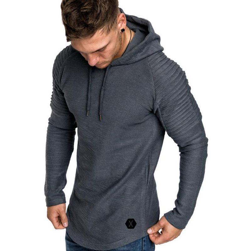 2018 New Mens Hoodies Brand Solid Color Sweatshirts Fashion Male Bamboo Fiber Hoodie Autumn Winter Hoodie Mens Long-sleeved