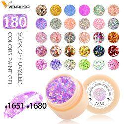 Venalisa CANNI Factory Supply 180 Colors UV/LED Soak Off Professional Nail Salon UV Gel Paint