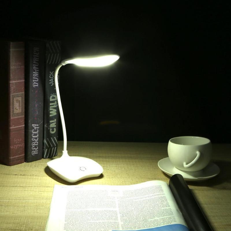 USB Lade Lesen Licht 3 Modus Flexible Tisch Lampen Touch Sensor Dimmbare Lesen Studie Weiß Licht Schreibtisch Lampe
