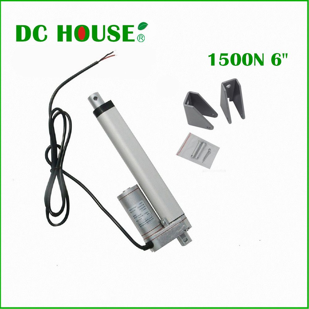150mm/6 inches Solar Tracker Stroke Electric Linear Actuator 12V DC 150KG Load 5.7mm/sec Seed Mini Linear Tubular motor motion