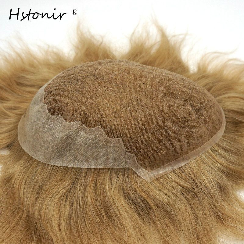 Hstonir Hair Part Lace Human Remy Hair Wig Thin Skin Swiss Lace In Front Top Men Toupee For Sales H045