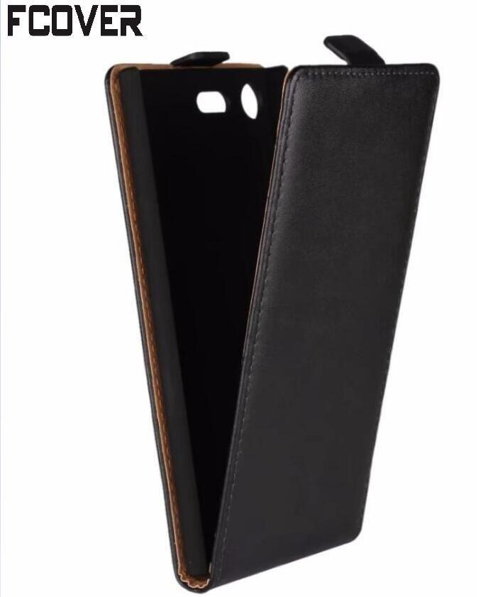 Véritable housse En Cuir Pour Xperia XZ1 Flip Cover Pour Sony Xperia XZ1 Compact Flip Cas
