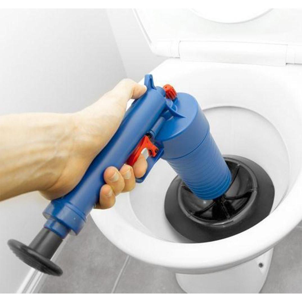 LanLan Household Air-pressure Type Toilet Dredging Device <font><b>Drain</b></font> Sink Pipe Clog Remover Bathroom Kitchen Cleaner Kit