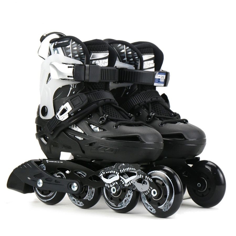 Original Flying Eagle S6S Professional Slalom Inline Skates Child Size Adjustable Roller Skating Shoes Kids Free Skating Patines