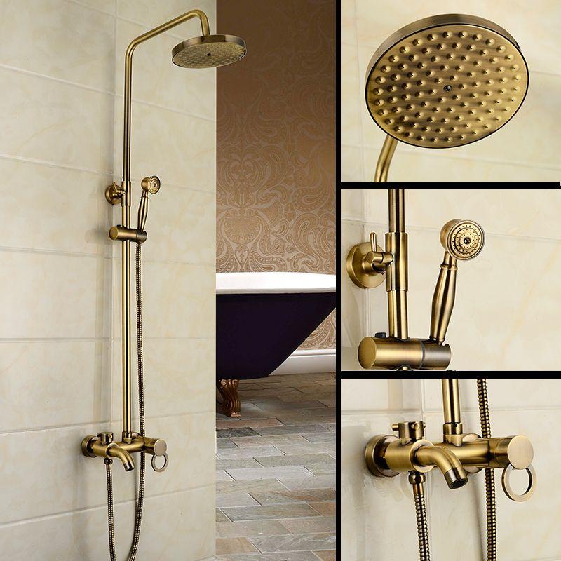 Robinet de douche de bain en bronze Antique de marque Dofaso robinet mitigeur mural 8