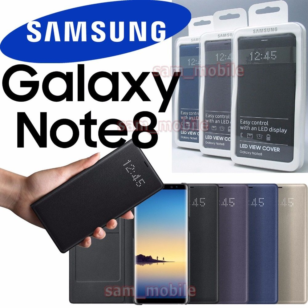 Original Samsung Galaxy NOTE 8 N950F Intelligent LED View Cover Flip Wallet Case sleep function Automatic wake screen on feature