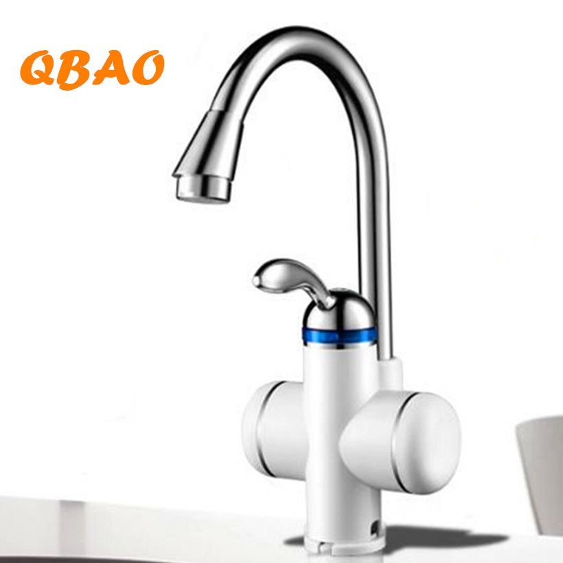 220V <font><b>3000W</b></font> Kitchen Instant Water Heater Faucet Electric Tankless Water Heater Instantaneous Boiler for Kitchen Cold Hot Dual-Use