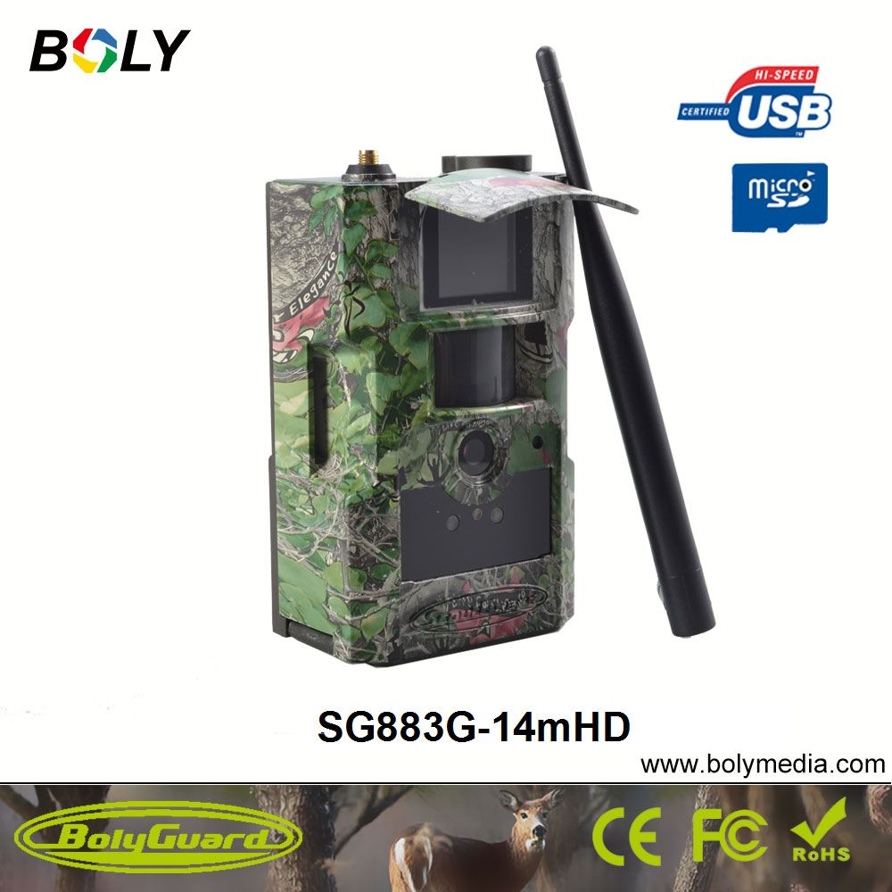 Bolyguard 14MP 720P HD Trail Camera 3G Wireless Home Security GSM phone MMS GPRS Waterproof Anti Theft  Hunting Camera