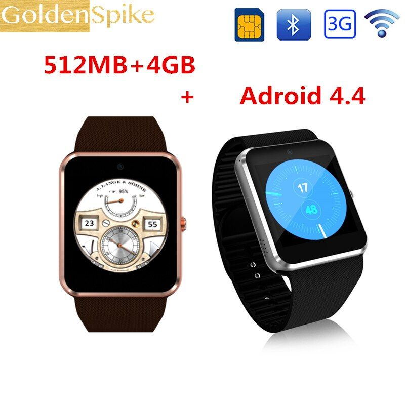 Top Sale 3G Wifi QW08 Android Smart Watch GT08 support Play Store Download APP Smart Clock with Whatsapp and Facebook Reminder