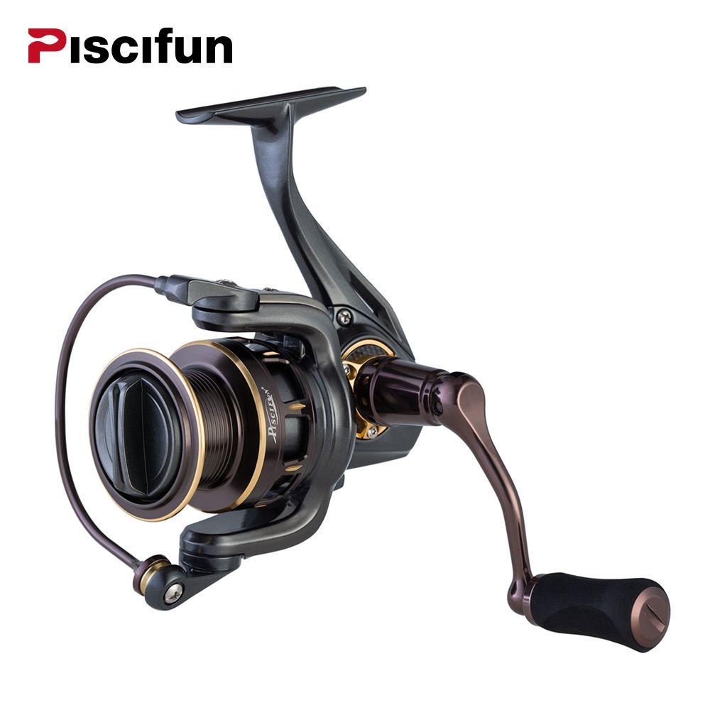 Pisicifun Stone 5.2:1 10BBs <font><b>Spinning</b></font> Fishing Reel Super Powerful 11.3kg Max Drag Saltwater Spin Fishing Reels