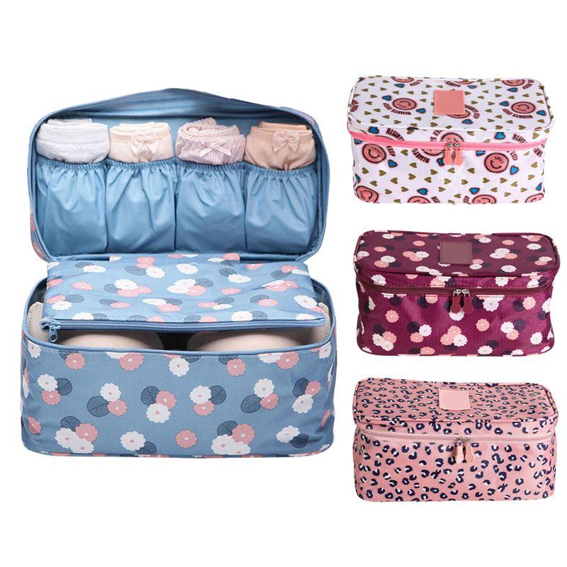 Travel Storage Bag Underwear Bra Organizer Underwear Panties Organizer Container Cosmetic Bag Toiletries Storage Bag
