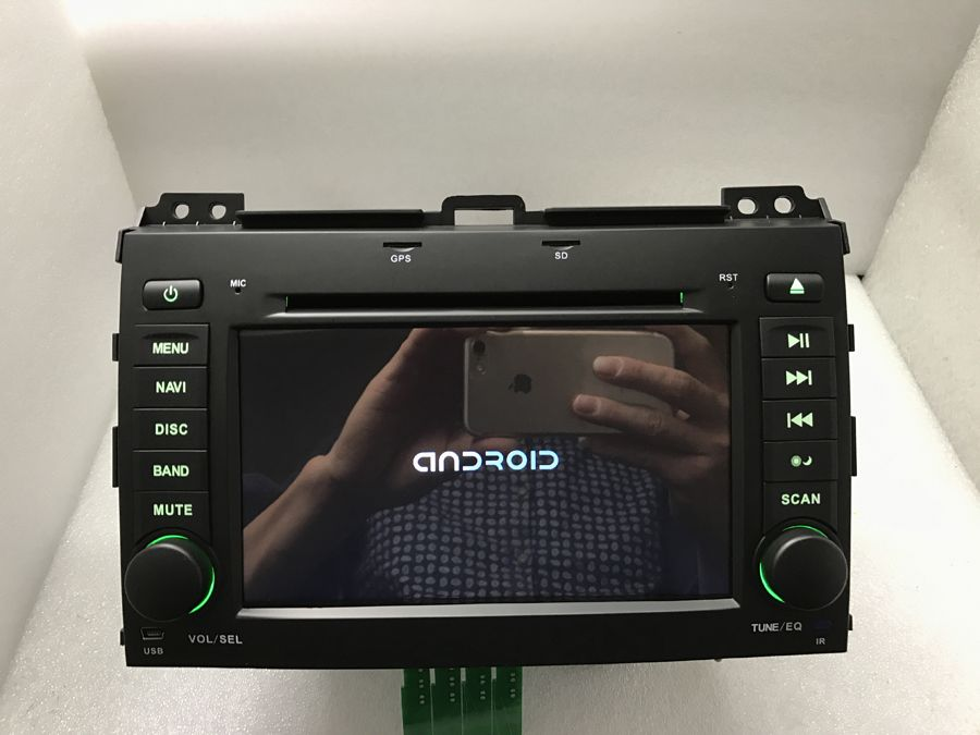 Reine Android 8.0 Octa Core 2 gb RAM Auto DVD 1024*600 Kapazitiven Bildschirm, 32 gb GPS BT WIFI für TOYOTA Land Cruiser Prado 120