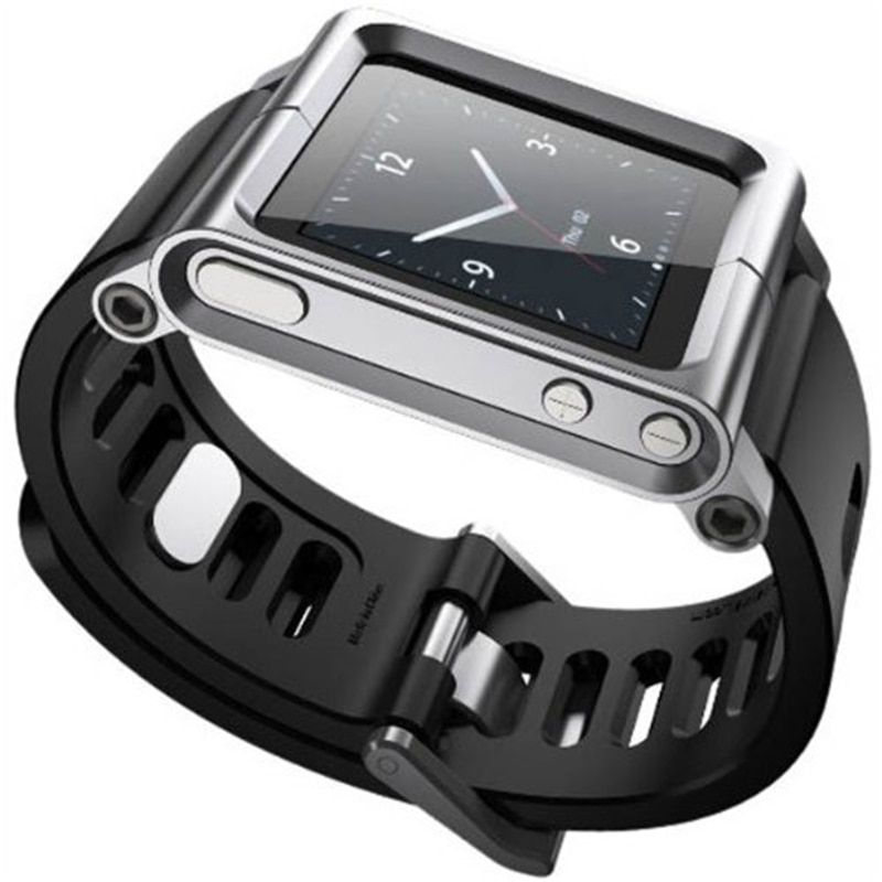 Aluminum Silicone Mix Case Multi-Touch Watch Band For iPod Nano 6/6th Watches Women Men's Watch Bank 2018 Bracelet