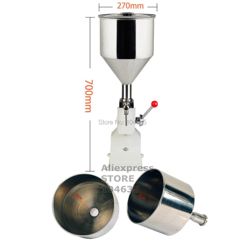 A03 Verbesserte Hochpräzise kleine flasche griff bedienen edelstahl Manuelle paste flüssige kosmetische füll maschine 5-50 ml