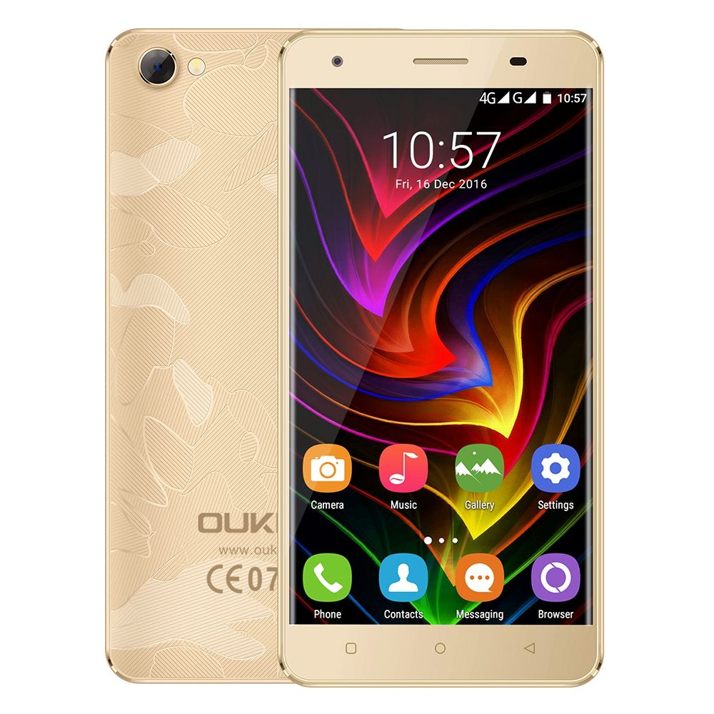 OUKITEL C5 Pro 4G 5.0 inch Smartphone Android 6.0 MTK6737 Quad Core 1.3GHz Cellphone 2GB+16GB Dual Cameras 1280x720 Mobile Phone