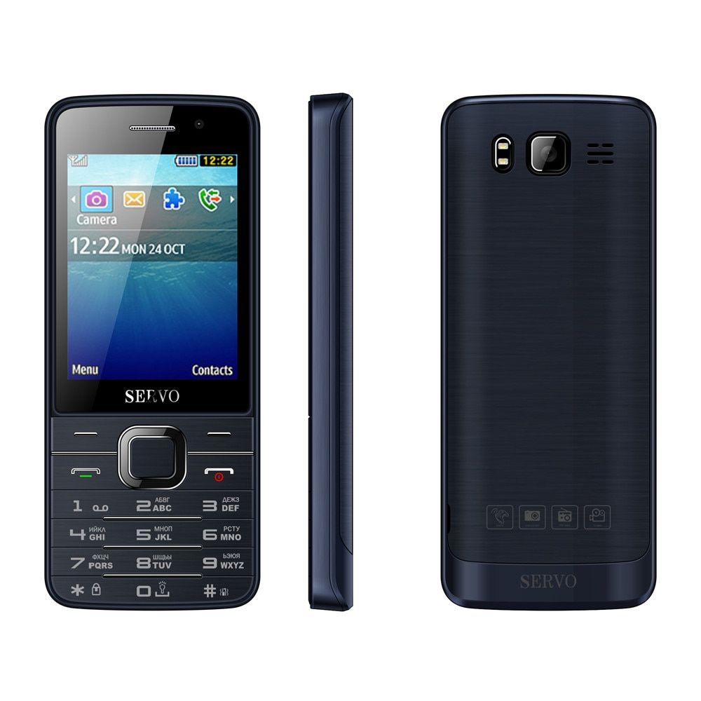 SERVO V9500 quad SIM 2.8 inch HD big screen 4 SIM card 4 standby vibration dual camera GPRS bluetooth FM mobile phone P283