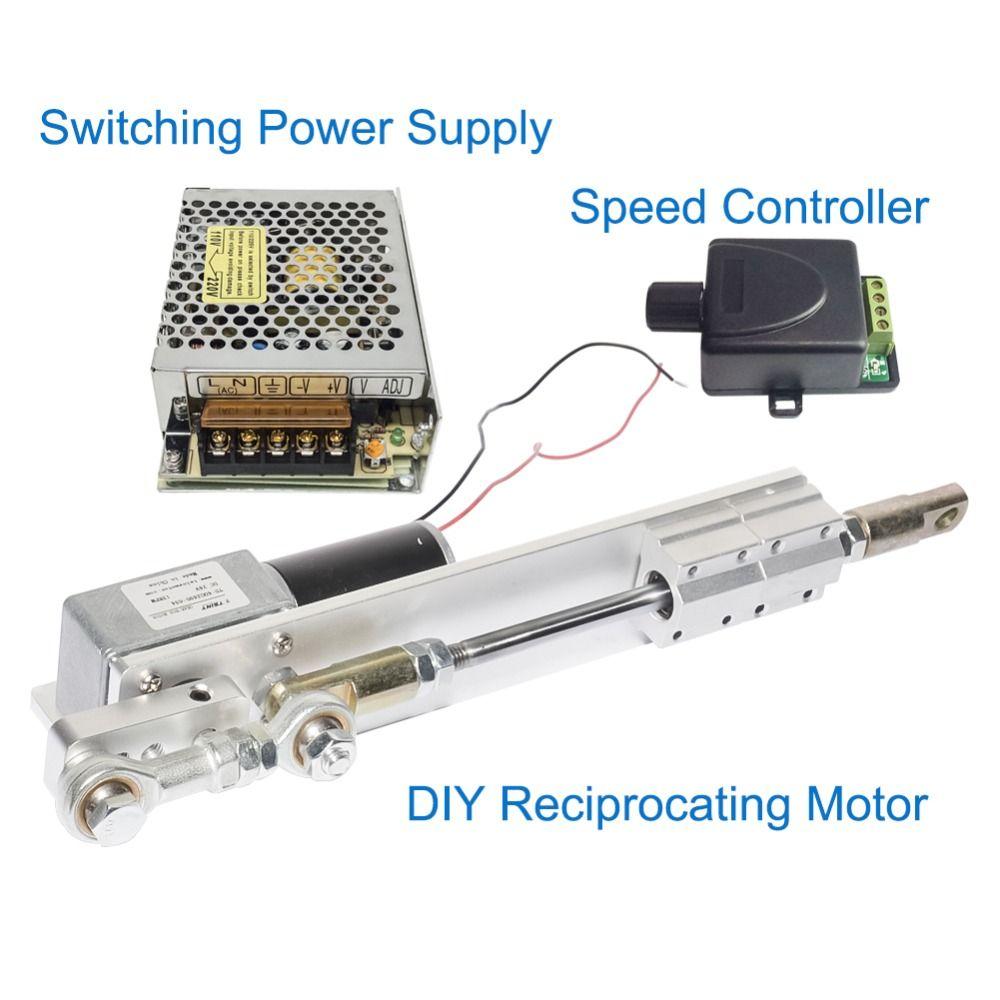 DIY Design DC24V Linear Antrieb Kolben Motor Hub 30/50/70mm + Schaltnetzteil 110 v -240 v + PWM Speed Controller