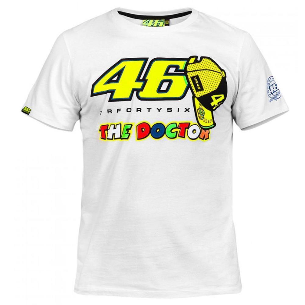 2017 Valentino Rossi VR46 The Doctor Moto GP Monza Cotton T-shirt White