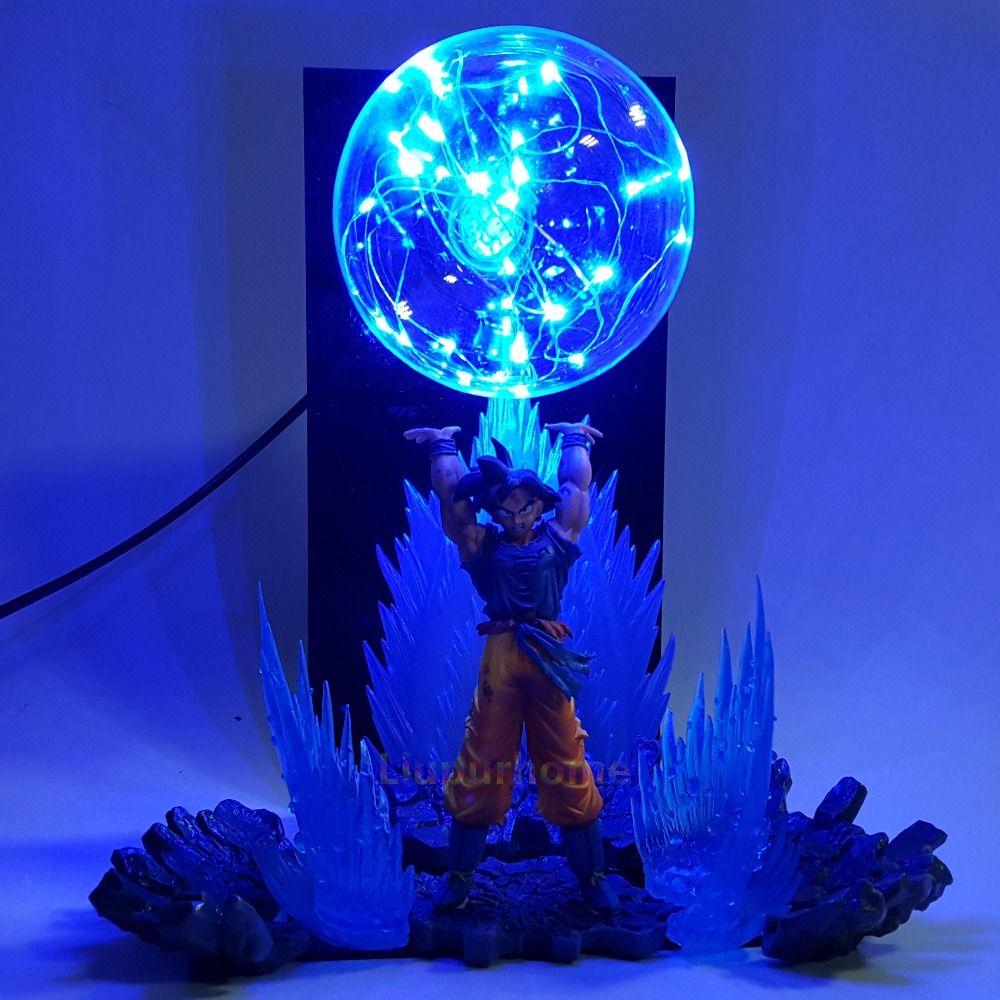Dragon Ball Z Son Goku Spirit Bomb Led Effect Night Lights Anime Dragon Ball Z DBZ Led Table Lamp Son Goku