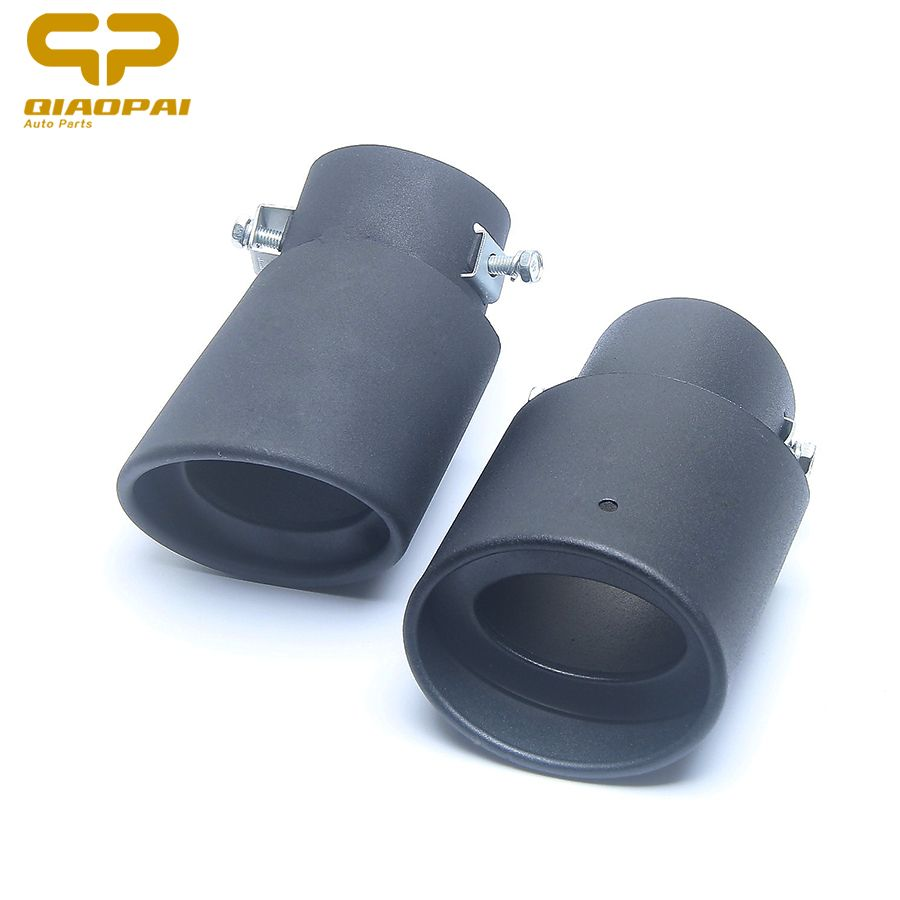 1PC Modified Exhaust Tail Muffler Rear Muffler Tip Pipe Stainless Steel Exhaust Tail Black Car Exhaust Muffler For Mitsubishi