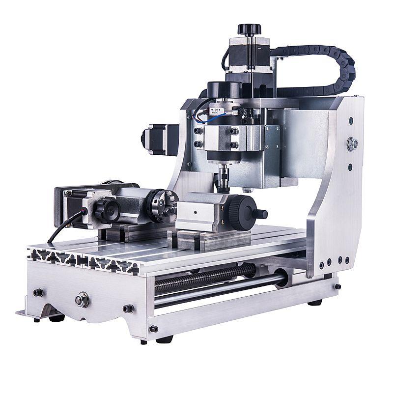 4 achsen mini cnc router 3020 300 watt spindel holzbearbeitung drehmaschine maschine für PVC Acryl Kunststoff Holz